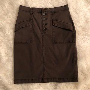 Anthropologie Pilcro Stretch Chino Pencil Skirt